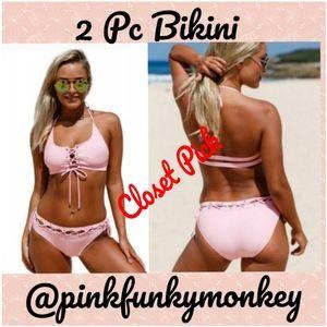 Other - New Lace Up Bralette Bikini Set